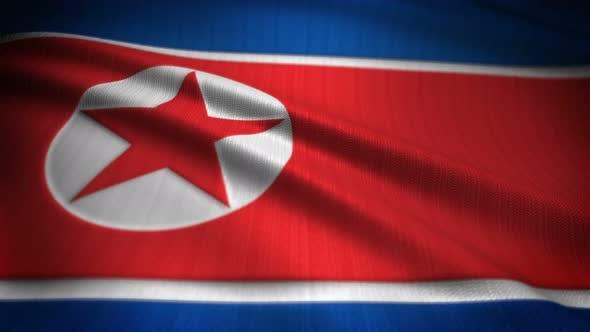 Thumbnail for North Korea Flag Seamless Loop
