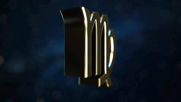 Thumbnail for Rotating Gold Virgo Zodiac Sign
