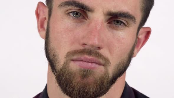 Thumbnail for Handsome Bearded Man Looking Seriously To the Camera