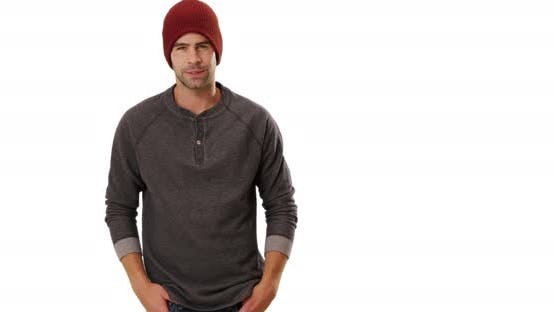 Thumbnail for Sexy urban hipster standing in front of white background