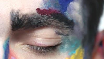 Scared Eye Close Up.