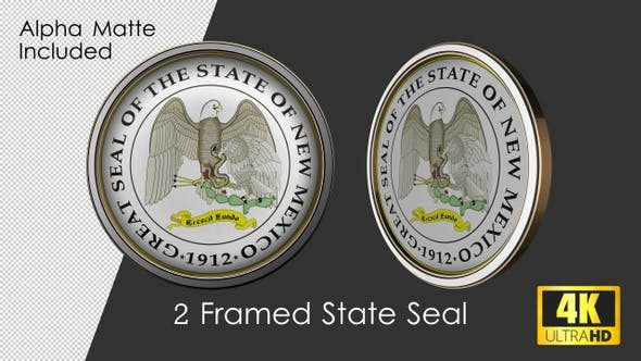Thumbnail for Framed Seal Of New Mexico State