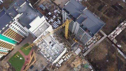 Construction Crane Working New Building