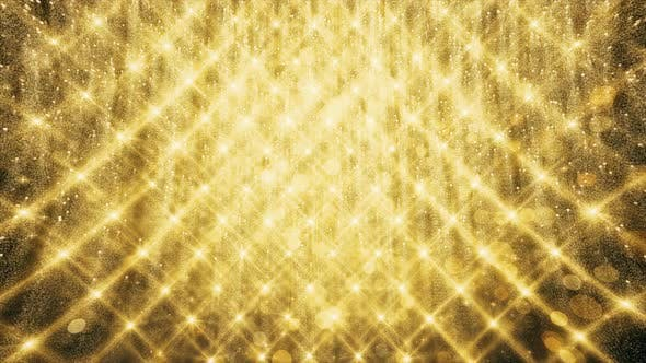 Gold Glitter And Reflection Lights 05 HD