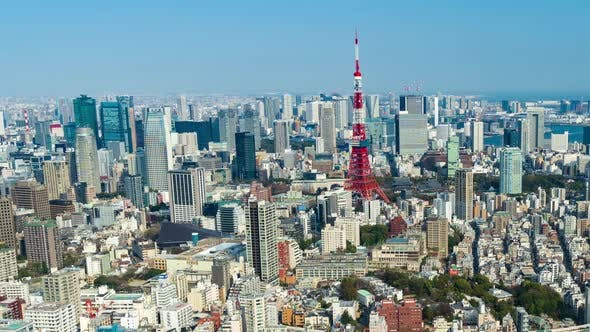 time lapse of Tokyo city, Japan