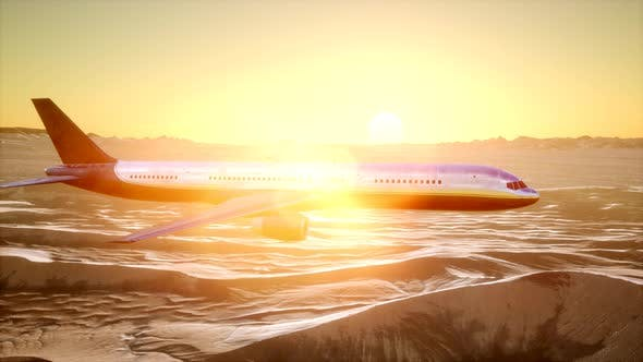 Thumbnail for View To the Airplane Over the Desert