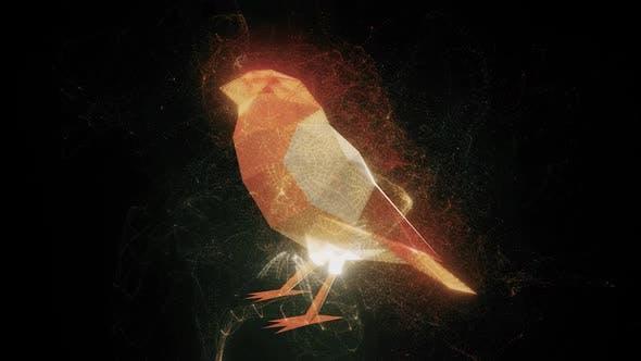 The Abstract Bullfinch Bird Hd