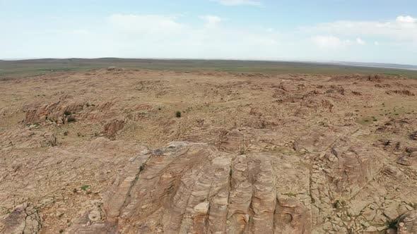 Thumbnail for Aerial View of Baga Gazriin Chuluu, Rocky Desert in Gobi, Mongolia