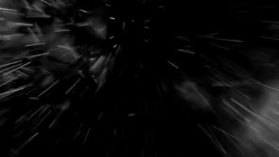 blizzard on black background