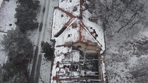 Thumbnail for Aerial Shot Of Abandoned Buildings 5 - Clips Included