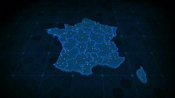 France Map 4k