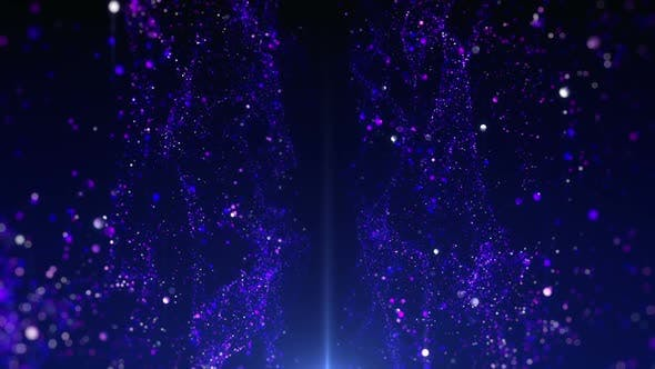 Particle Stage Background