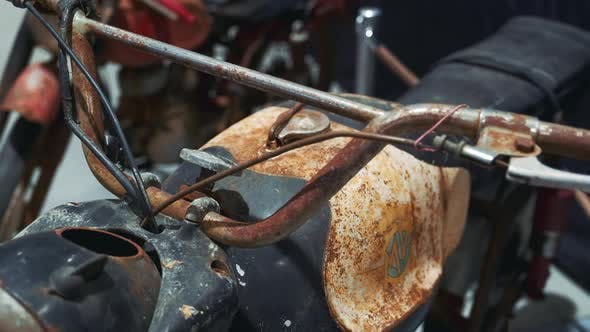 Thumbnail for View of Old Rusty Motorbike