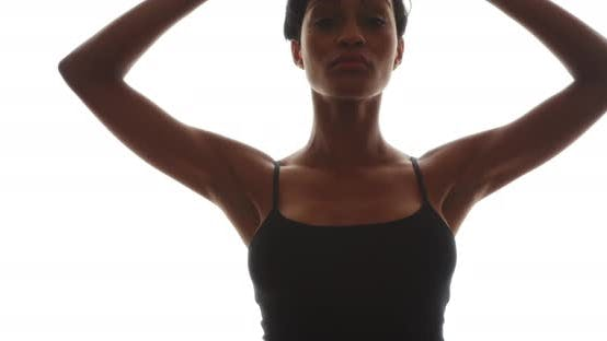 Thumbnail for Black woman dancing gracefully in slow motion