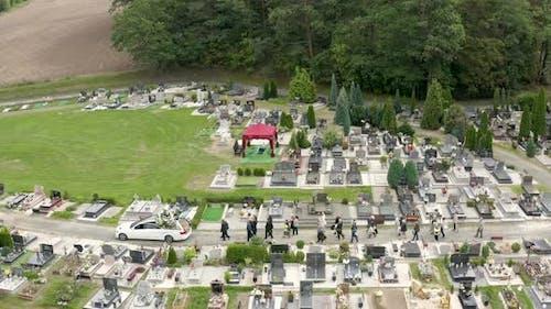 Beerdigung von oben