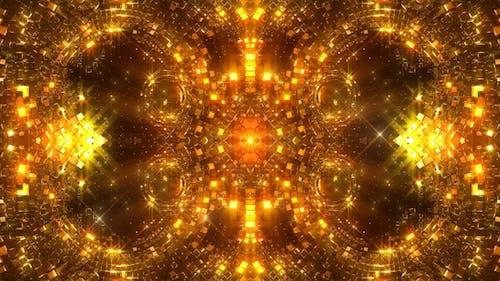 Glittering Gold Circles