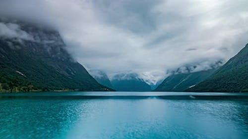 Beautiful Nature Norway Natural Landscape Lovatnet Lake Lodal Valley