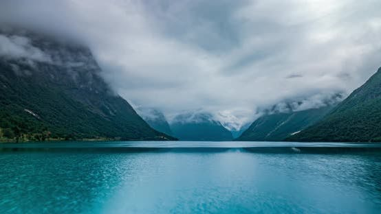 Thumbnail for Beautiful Nature Norway Natural Landscape Lovatnet Lake Lodal Valley
