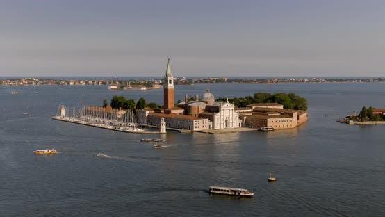 Thumbnail for Aerial View of San Giorgio Maggiore in Venice - Italy
