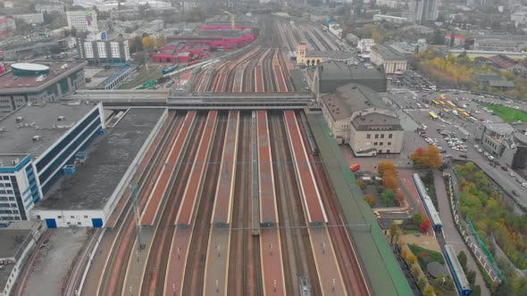 Train Arrives At Station