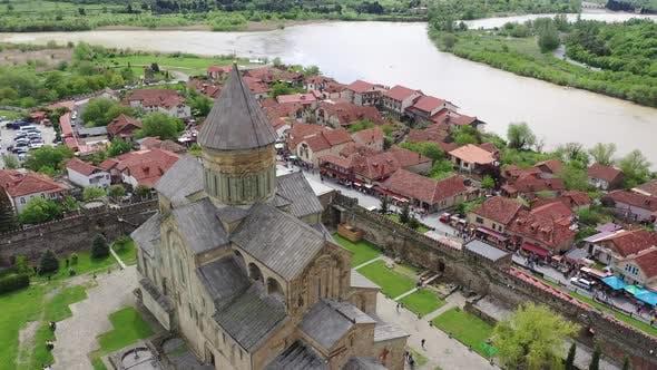 Thumbnail for Aerial view. The Svetitskhoveli Cathedral
