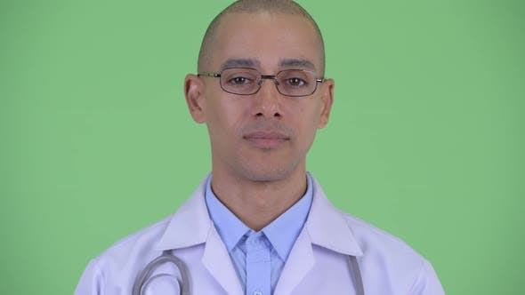 Thumbnail for Face of Happy Bald Multi Ethnic Man Doctor Smiling