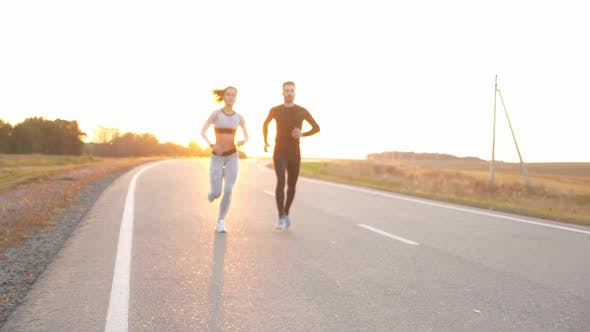 Thumbnail for Healthy Lifestyle - Woman and Man Running.