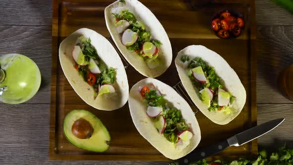 Thumbnail for Fish Tacos with Avocado and Beer