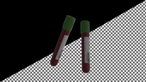 Covid 19 Test And Laboratory Sample Of Blood  With Alpha Channel