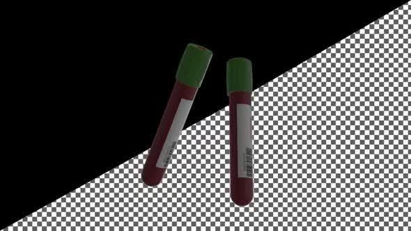 Thumbnail for Covid 19 Test und Laborprobe von Blut mit Alphakanal