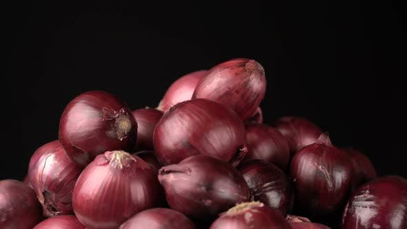 Thumbnail for Rotating Red Onions Background