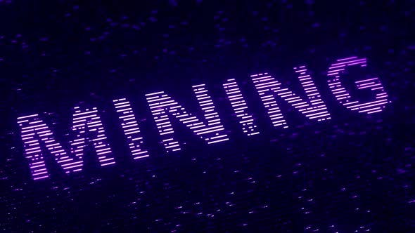 Thumbnail for Purple MINING Word Made with Flying Particles