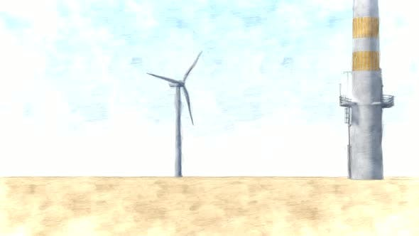 Windmill Stop Motion