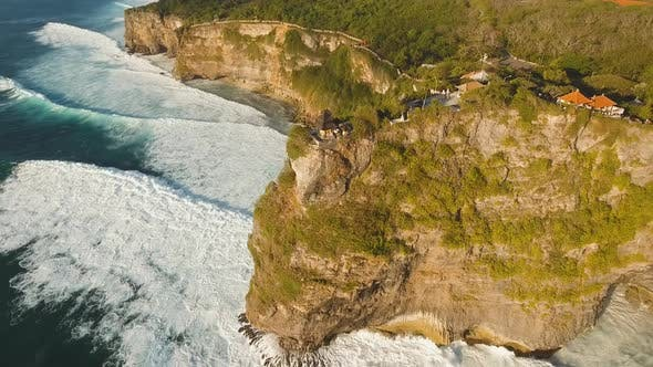 Thumbnail for Rocky Coastline on the Island of Bali. Aerial View.