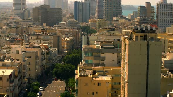 Thumbnail for A Tel Aviv Cityscape With The Mediterranean In Israel