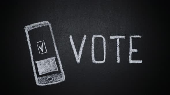 Arrêter la mise en boîte du bulletin de vote tiré à la main sur l'écran du smartphone