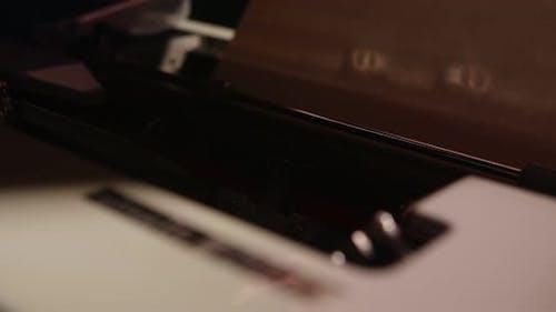 Adding Paper To A Typewriter