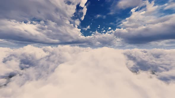 Thumbnail for Flying On Day Light Sky Clouds 02 4K