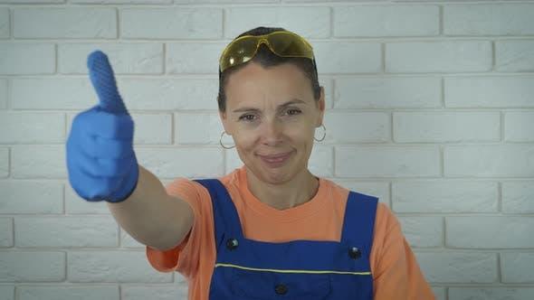 Happy Woman Plumber