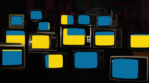 Thumbnail for Sweden Flag and Retro TVs.