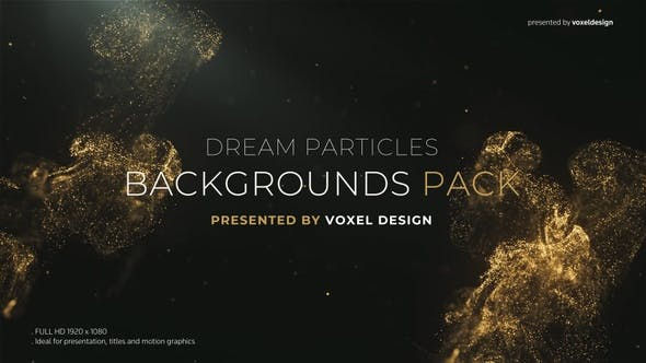 Dream Dust Magical Particles Background Pack