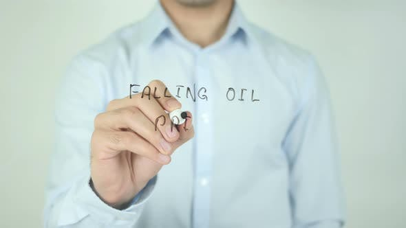 Cover Image for Falling Oil Prices, Writing On Screen