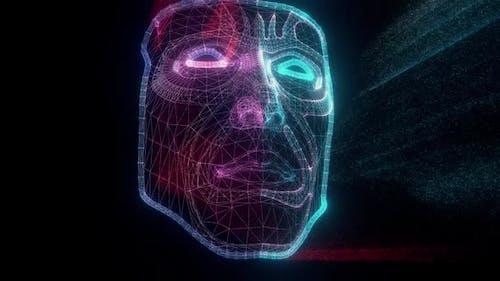 Futuristic Humanoid Robot Face Scanning Hd
