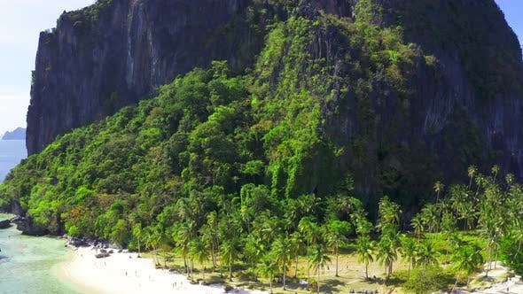 Thumbnail for Amazing Landscape and Ipil Beach Full of Rocky Pinagbuyutan Island of El Nido, Palawan, Philippines