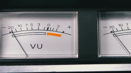 Two Old Analog Dial Vu Signal Indicators with Arrow