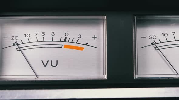 Thumbnail for Two Old Analog Dial Vu Signal Indicators with Arrow