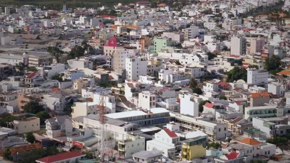 Aerial view of Nha Trang city
