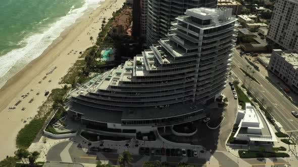 Thumbnail for Aerial Fort Lauderdale Beach scene with resorts