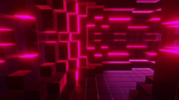 Pink Cubic Tunnel