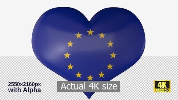 Thumbnail for European Union Flag Heart Spinning